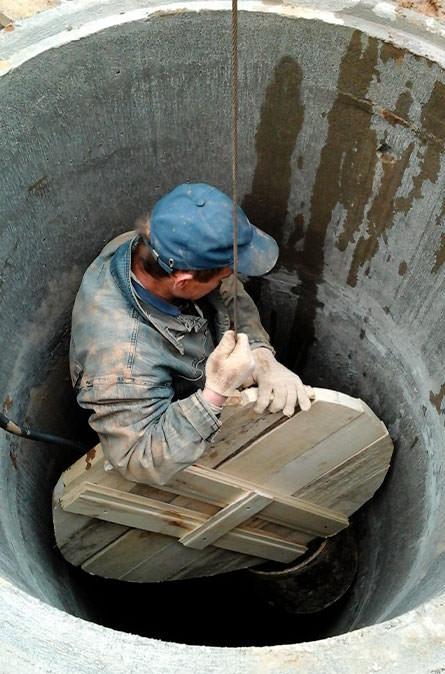 Как мы выполняем чистку колодца в Щелковском районе